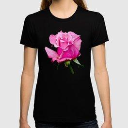 Romantic Pink Rosebud T-shirt