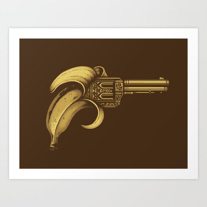 Banana Gun Art Print By Buko2 Society6