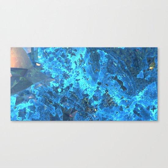Deep Blue Starfield Canvas Print