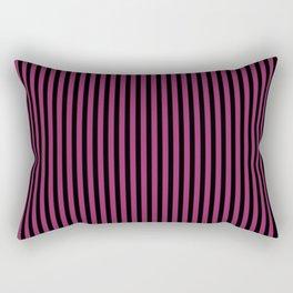 Festival Fuchsia and Black Stripes Rectangular Pillow