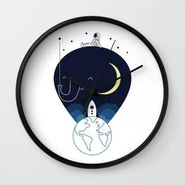 Imagine and Explore Wall Clock