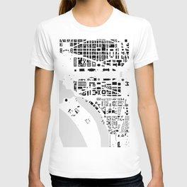 Washington DC building city map T-shirt