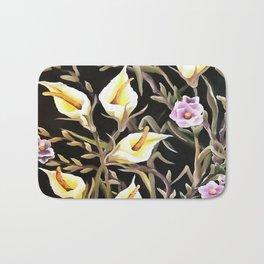 Arum Lily Artistic Floral Design Bath Mat
