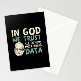In God We Trust All Others Must Bring Data Stationery Cards