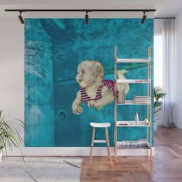 Baby's First Swim Wall Mural