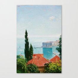 Dubrovnik sea vew Canvas Print