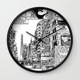 Buenos Aires Avenida 9 De Julio Wall Clock