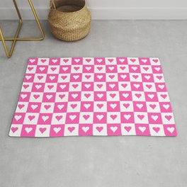 heart and love 11 - pink Rug