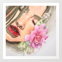 Cherry Lips Art Print