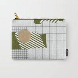 Checks Lines Grid Carry-All Pouch