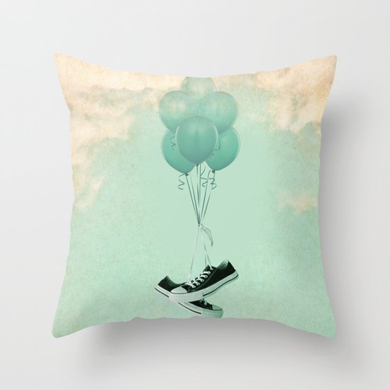 Up Cycleing Throw Pillow