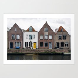 Row houses and Canal in The Netherlands Art Print