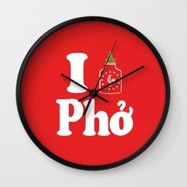 I Heart Pho Wall Clock