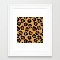 leopard Framed Art Prints featuring Leopard by Julia Badeeva