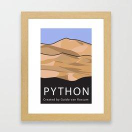 Python Programming Landscape poster Framed Art Print