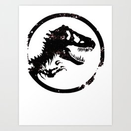 Jurassic world logo Art Print