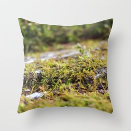 Moss 3 Throw Pillow
