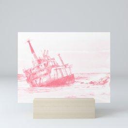shipwreck aqrepw Mini Art Print