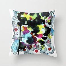 Hanging worlds  Throw Pillow