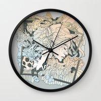 frames Wall Clocks featuring BROKEN FRAMES by Cassidy Rae Marietta