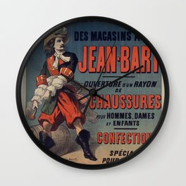 Old Sign / Jean Bart Wall Clock