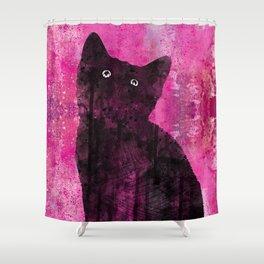 Cat Inkwash Shower Curtain