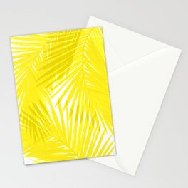 Palms Yellow Stationery Cards