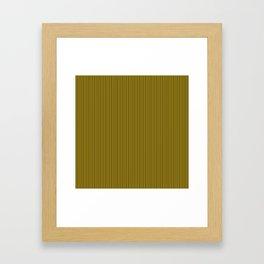 Yellow and Black Honey Bee Vertical Pin Stripe Framed Art Print