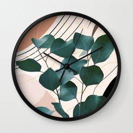 Eucalyptus Glam #1 #tropical #wall #decor #art #society6 Wall Clock
