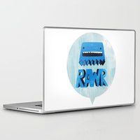 returns Laptop & iPad Skins featuring Rawr Returns! by mrbiscuit