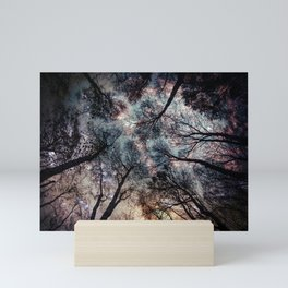 Starry Sky in the Forest Mini Art Print