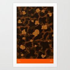Modern Woodgrain Camouflage / Duck Print Art Print
