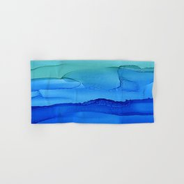 Alcohol Ink Seascape Hand & Bath Towel
