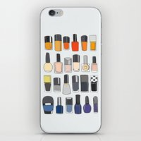 nail polish iPhone & iPod Skins featuring my nail polish collection by uzualsunday