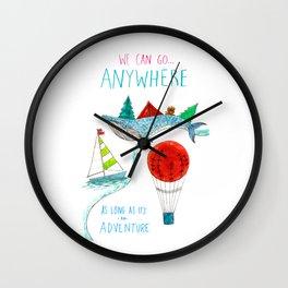 We Can Go Anywhere! Wall Clock