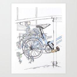 Biking Around Town Art Print