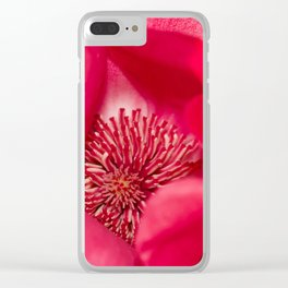 Mother Magnolia Macro Clear iPhone Case