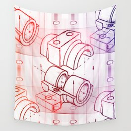 Technical Sketch Wall Tapestry