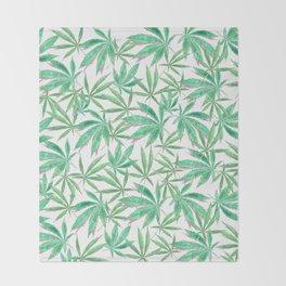 420 Leaves Throw Blanket