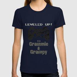 LEVELED UP to Grammie & Grampy T-shirt