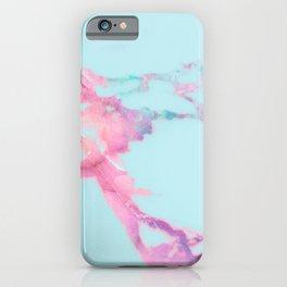 Blue Iridescent Vein Marble iPhone Case