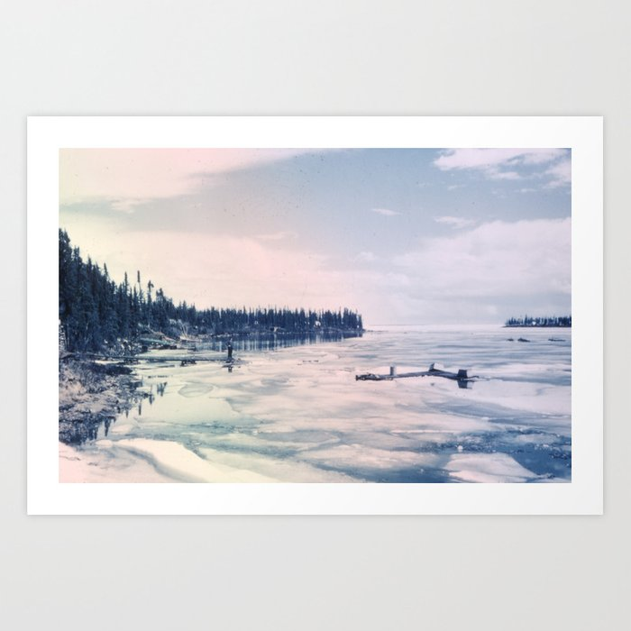 Waiting for the Thaw Art Print