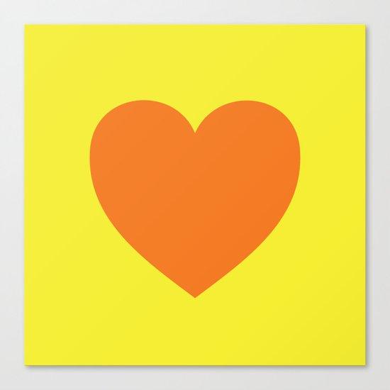 Pop Art Heart Canvas Print