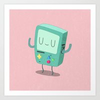 bmo Art Prints featuring BMO by Rod Perich