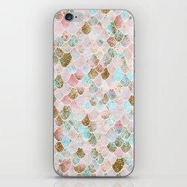 Wonky Watercolor Sea Foam Glitter Mermaid Scales iPhone Skin