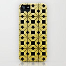 Golden Snow, Snowflakes #02 iPhone Case