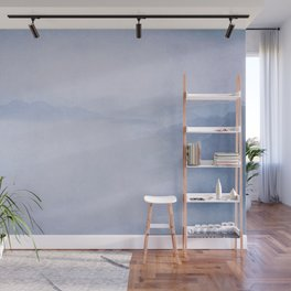 Sacred Cove Shrouded in Blue Mist Wall Mural