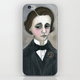 Lewis Carroll and the Cheshire Cat iPhone Skin