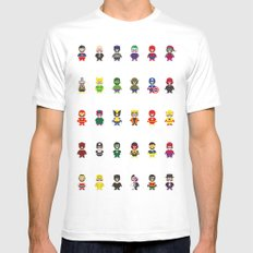 Really Super Mario vs Really Super Wario Mens Fitted Tee MEDIUM White