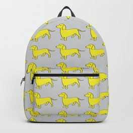 Doxie Love - Grey and Yellow Backpack